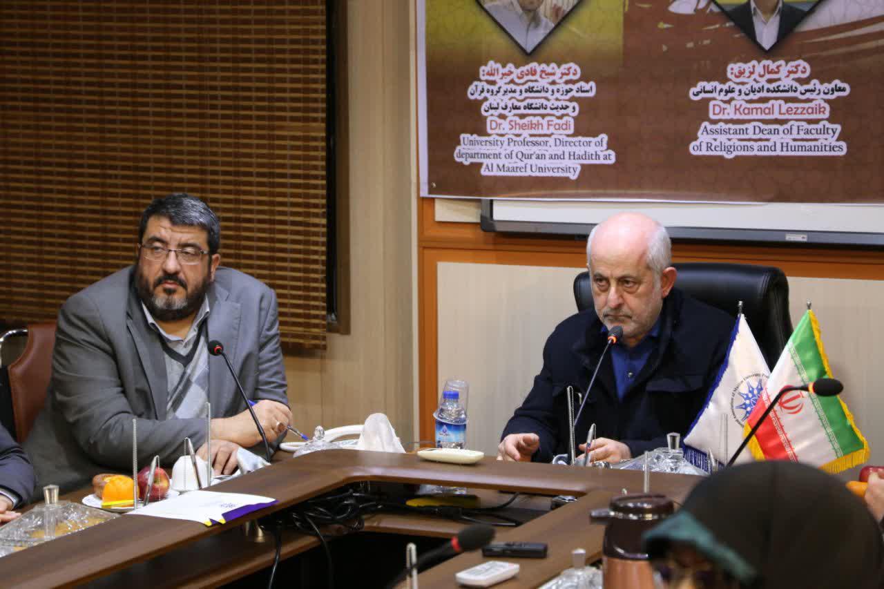 دکتر ایزدی در کنار دکتر طلال عتریسی